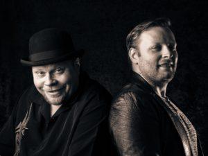 "Geir ""Milkman"" Bertheussen og gitarist Kai Fjellberg"
